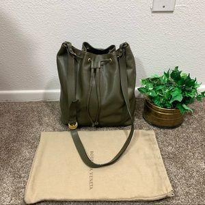 BOTTEGA VENETA VTG Leather Bag Bucket Drawstring